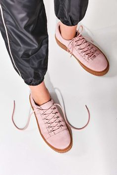 Hollie Suede Creeper Trainers