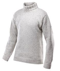 Nansen sweater high neck - Grey melange - Devold of Norway