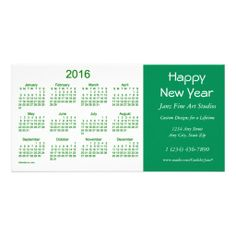 2016 Business Calendar by Janz Happy New Year Card Photo Cards