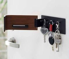 マグネットキーフック Rin Key Storage, Storage Rack, Key Rack, Key Hooks, Household Items, Bathroom Hooks, Magnets, Dark, Store