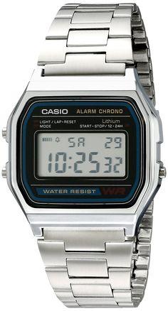 4db3855c66f Casio Men s A158W-1 Stainless Steel Digital Watch Retro Watches