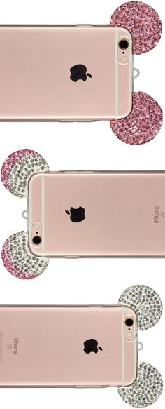 Mickey Mouse Case for iPhone 6, iPhone 6s, iPhone 6 Plus & iPhone 6s Plus in silver, pink-silver and pink. Get yours now! Bling iPhone Case Bling Ear Case Mickey Mouse Style Eyecatcher only 8,90€
