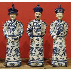 Porcelain Blue and White Qing Emperors