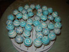 cake pop decorating | Blue and White Baptism Cake Pops - Cake Decorating Community - Cakes ...