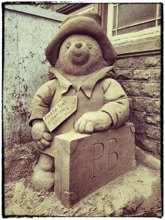 English Eccentricity @EnglishEccent #PaddingtonBear #SandSculpture from our #WestonSuperMare weekend..