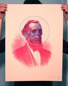 Flickr Photo Download: Skullbeard Screen Print