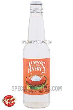 Avery's Pumpkin Pie Soda 12oz Glass Bottle