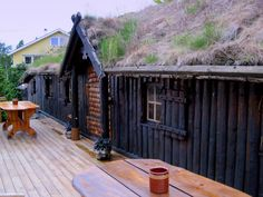Ombo Norway. The owner of this great place and this houses have studied how the Vikingd builded houses. Very nice to stey there one night, This building has the livingroom, kitchen and bathrooms, we where sleeping in an other building.