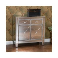 Mirrored Cabinet Dresser Nightstand Chest Drawers Side End Table Furniture NEW
