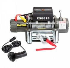 Truck Car Trailer Electric Winch w/Remote Control 12,000 lbs Pulling Cable 12v #Badland