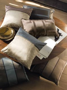 If you're feeling fashionable and want to add some details to your designs, you definitely need a soft-good! Sofa Pillows, Accent Pillows, Cushions, Fabric Rug, Pillow Fabric, Casamance, Designer Pillow, Bed Covers, Contemporary Interior