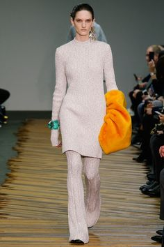 Cozy All-Over Knits for Fall 2014 - Wool twin set at Celine AW14  #fallfashion