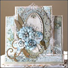 Something Blue for You card for Cheery Lynn Designs featuring Lemoncraft papers designed by Rhonda Van Ginkel