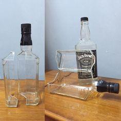 Pin on liqourcrafts Liquor Bottle Crafts, Wine Bottle Candles, Alcohol Bottles, Diy Bottle, Liquor Bottles, Bottle Art, Glass Bottles, Jerry Can Mini Bar, Cutting Wine Bottles