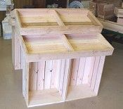 """Wooden Country Barn Style Store or Serving Display - 39"""" high... you could make this with wine crates too"""