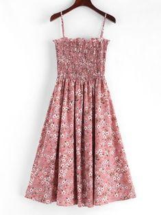 0364c3e1a Smocked Floral Print Cami Dress