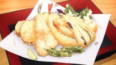A plate of tempura