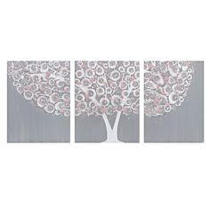 Hey, I found this really awesome Etsy listing at https://www.etsy.com/listing/158909448/gray-and-pink-tree-wall-art-painting-on