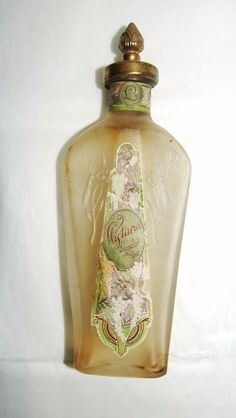 Wisteria by Langlois Antique Decorative Perfume Bottle 1920s #Langlois