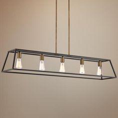 "Hinkley Fulton 50"" Wide Bronze Island Pendant Light - #6K319 | LampsPlus.com"