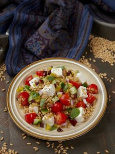 Greek Wheat Berry Salad Recipe - JoyOfKosher.com