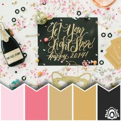 NEW YEAR WISHES COLOR PALETTE  Pastel Feather Studio