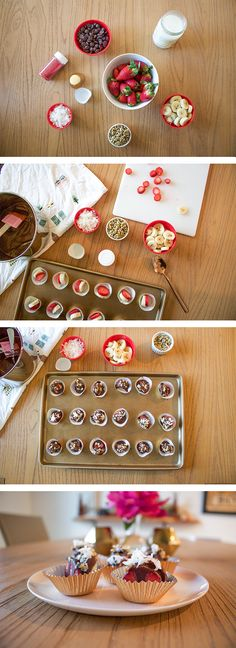 chocolate-covered strawberries, try these mess-free banana split bites ...