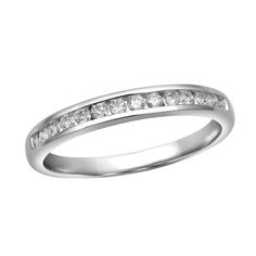 Classic Channel Set Diamond Wedding Ring from Steven Singer Jewelers