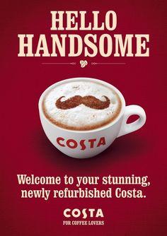 Costa Coffee by Gareth and Tony , via Behance