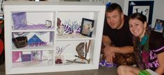 What else do you do with the things you can not put in a wedding scrapbook?? A Wedding shadow box!!!