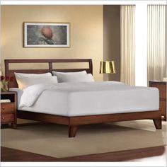 King bed in walnut
