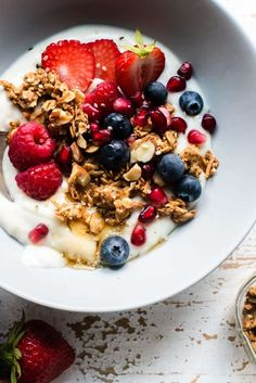 Almond Butter Granola is a wholesome way to start the day! This easy, homemade granola recipe is made with heart-healthy nuts, seeds, and no refined sugar. Vegan Hot Cross Buns, How To Make Granola, Homemade Almond Butter, Breakfast Dishes, Breakfast Ideas, Breakfast Recipes, Eat Pretty, Sliced Almonds, Top Recipes