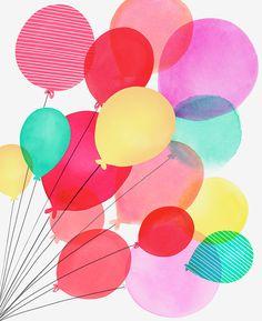 Margaret Berg Art : Illustration : birthday / celebrate