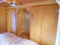 1953 Boost Teardrop Trailer With Beautiful Vintage Wood Cabinets