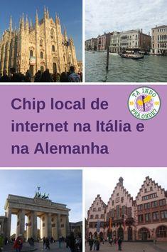 Comprei chips locais para usar internet no celular na Alemanha e na Itália e conto neste post como foi!