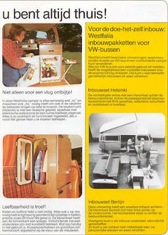 8-Days a week VWT2B camper    Some original  Dutch advertising from the VW  T2 Camper. Vintage & Retro