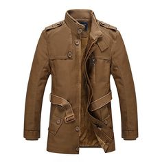 Men Winter Windproof Waterproof Thick Warm Velvet Plus PU Leather Jackets Outdoor Long Parka Coats - Banggood Mobile
