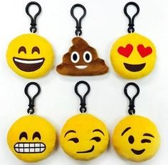 Cute Plush Smiley Emoji Keychain - Dempsey & Gazelle  - 1