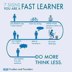 7 Signs You Are A Fast Learner Do More Think Less