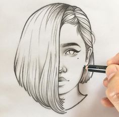 । The story of intricate stroke। Beautiful Drawings, Amazing Drawings, Art Drawings, Love Drawings, Drawing Sketches, Pencil Drawings, Tumblr Sketches, Portrait Sketches, Rik Lee