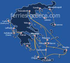 Ferries and Boats to Paros island cyclades greek islands Greece Greek Island Ferries, Greek Island Hopping, Crete Island, Greece Islands, Corfu, Naxos Greece, Skiathos, Samos, Greek Islands To Visit