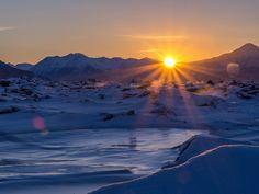 Sunrise over the Chugach Range Turnagain Arm Cook Inlet Anchorage AK [OC] [5048 x 3802]