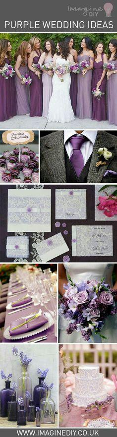 Ideas de bodas en púrpura 💜