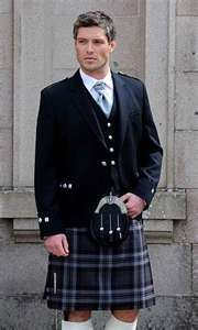 Ambiance~   Traditional Scottish wedding, coordinate with your groomsmen to make sure you're all wearing traditional Highland attire. This  includes the  kilt, hose & the right jacket Each clan has its own tartan. The Groom should secure a clan tartan or plaid design onto his  jacket's shoulder using the clan brooch. Pair the kilt with the right coat, vest & a sporran to hang around the waist. A sporran is a leather pouch that is secured in front.~  (410) 819-0046  www.maryannjudy.com
