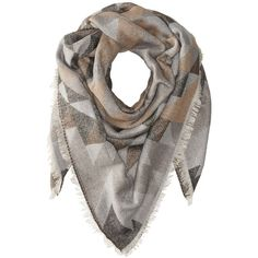 Steve Madden Kaleidoscope Jacquard Blanket Wrap (Neutral) ($31) ❤ liked on Polyvore featuring accessories, scarves, wrap shawl, steve madden scarves, wrap scarves, blanket scarf and blanket wrap scarf