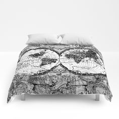 Buy world map black and white Comforters by bekimart. Worldwide shipping available at Society6.com. Just one of millions of high quality products available.