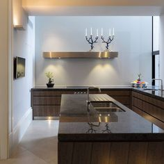 An incredibly designed kitchen suited for an incredibly designed house.