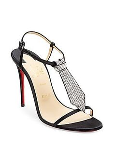 2a347daeabcc Christian Louboutin T Cab 100 Embellished Satin Sandals