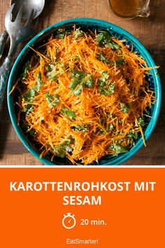Karottenrohkost mit Sesam   http://eatsmarter.de/rezepte/karottenrohkost-mit-sesam