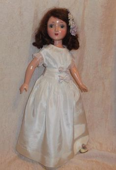 """Horsman SWEETHEART 21"""" Composition teen doll 1938 contemporary to Americn child"""